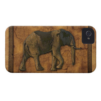 African Elephant & Rustic BG Phone Device Case iPhone 4 Case-Mate Cases