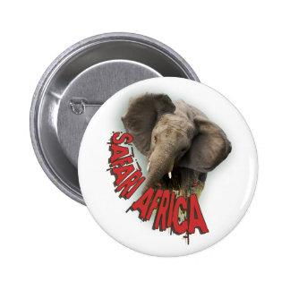 African elephant Safari Africa badges Pinback Button