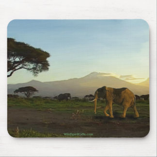 African Elephant Series Mouse Pad