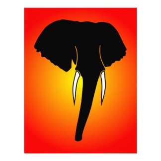 African Elephant Silhouette Flyer