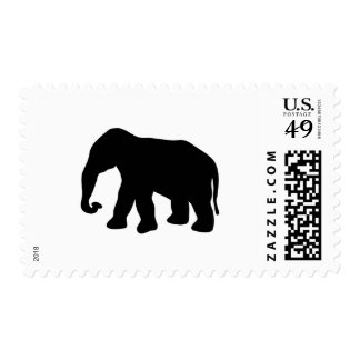 African Elephant Silhouette Ivory Tusks Dumbo Stamp