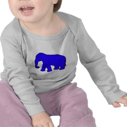 African Elephant Silhouette Ivory Tusks Dumbo T-shirt