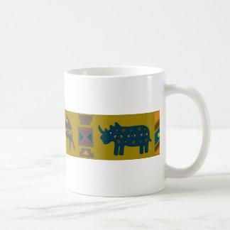 African elephant skin texture, brown or grey coffee mug