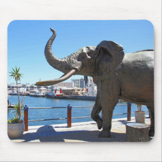 African Elephant statue in Cape Town Mouse Pad
