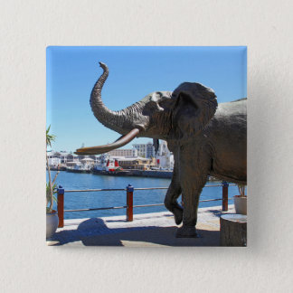 African Elephant statue in Cape Town Pinback Button