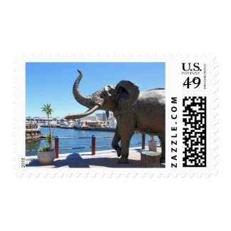 African Elephant statue in Cape Town Postage
