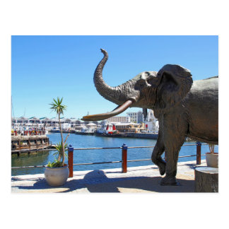 African Elephant statue in Cape Town Postcard