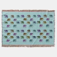 African Elephant Throw Blanket