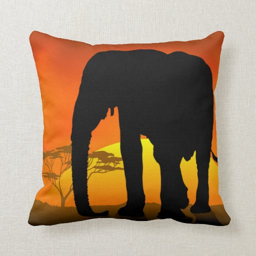 Animal Pictures On Pillows : African Elephant Throw Pillow Zazzle
