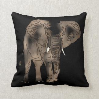 African Elephant Throw Pillows