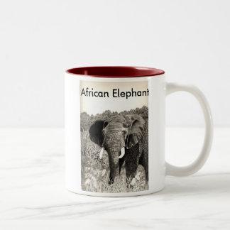 African Elephant Two-Tone Coffee Mug