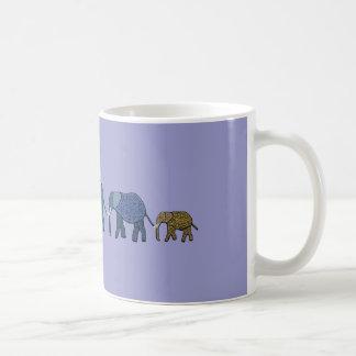African Elephant Walk Coffee Mugs
