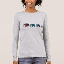 African Elephant Walk Long Sleeve T-Shirt