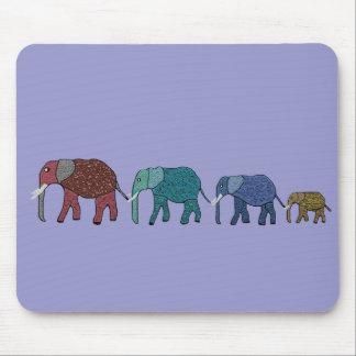 African Elephant Walk Mousepads