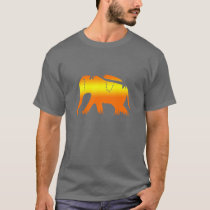 African Elephant Walking at Dawn T-Shirt