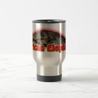 African elephant wildlife safari mugs cups