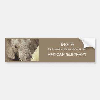 African elephant wildlife safari stickers car bumper sticker