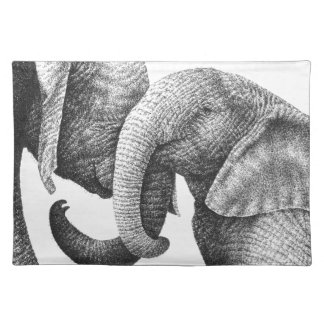 African Elephants American MoJo Placemats