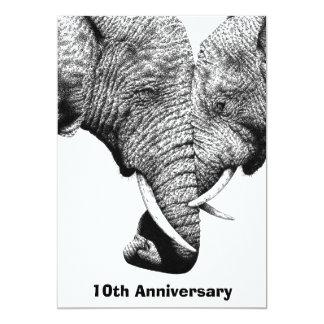 African Elephants Anniversary Party Invitation