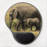 African Elephants at water pool Gel Mouse Pads