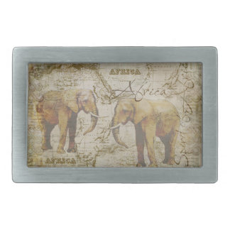 African Elephants Belt Buckle