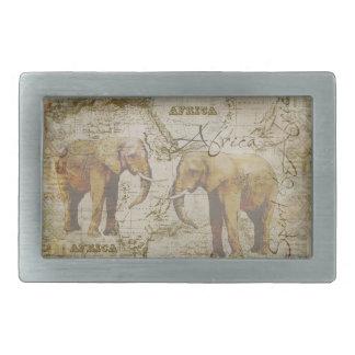 African Elephants Belt Buckle