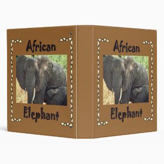 African Elephants Binder