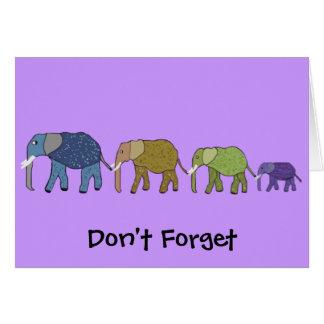 African Elephants Birthday Card