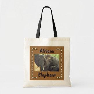 African Elephants Canvas Bags
