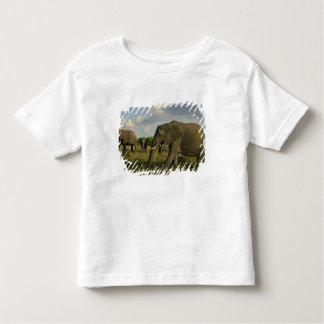 African Elephants grazing, Loxodonta africana, T Shirt
