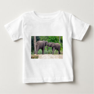 African Elephants Interacting Baby T-Shirt
