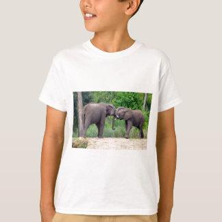 African Elephants Interacting T-Shirt