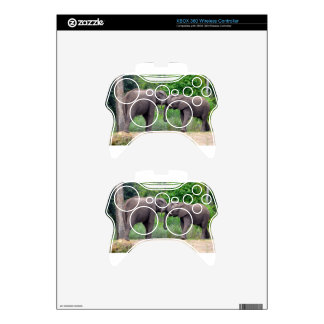African Elephants Interacting Xbox 360 Controller Skin