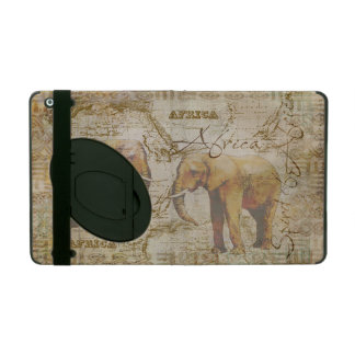 African Elephants iPad Folio Case