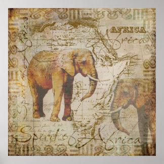 African Elephants.jpg Poster