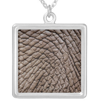 African elephant's (Loxodonta africana) skin Square Pendant Necklace