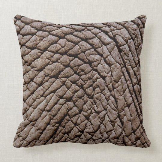 African elephant's (Loxodonta africana) skin Throw Pillow