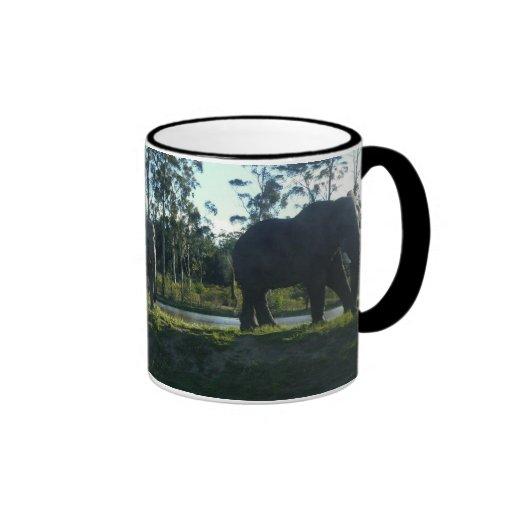 African Elephants Ringer Mug