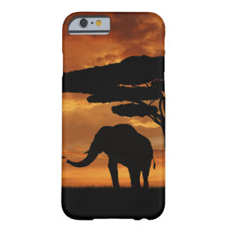 African elephants silhouettes in sunset barely there iPhone 6 case