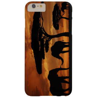 African elephants silhouettes in sunset barely there iPhone 6 plus case