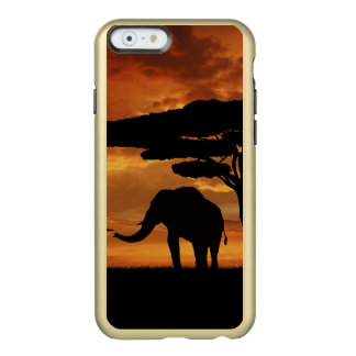 African elephants silhouettes in sunset incipio feather® shine iPhone 6 case