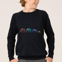 African Elephants Sweatshirt
