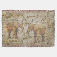 African Elephants Throw