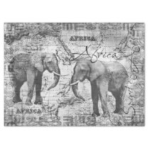 African Elephants Tissue Paper