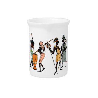 African Ethnic Native tribal design Drink Pitcher