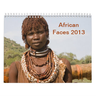 African Faces 2013 Wall Calendar