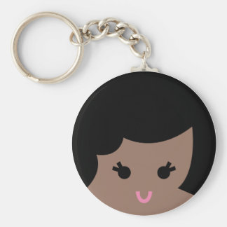 african faces 2 basic round button keychain