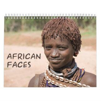 African Faces Custom Printed Calendar