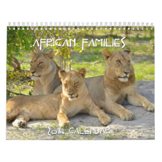 African Families 2014 Custom Calendar