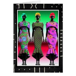 African Fashion Divas Card